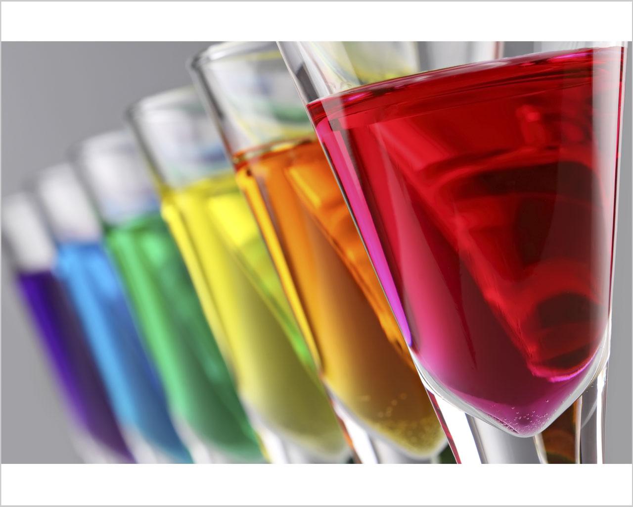 Fresco cocktail di colori food stampa su tela - Arcobaleno a colori e stampa ...
