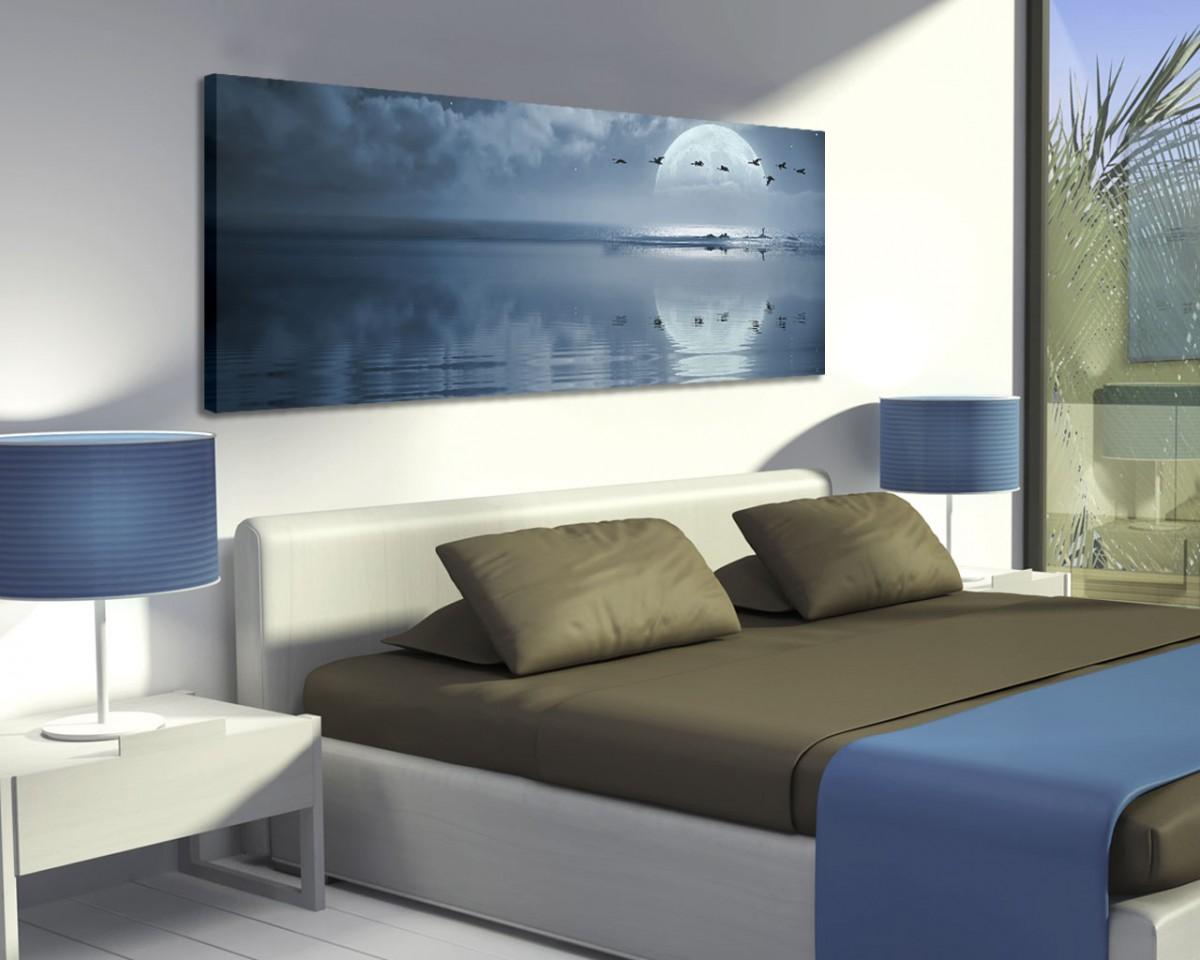Volo di gabbiani sul mare natura stampa su tela - Camera letto mare ...