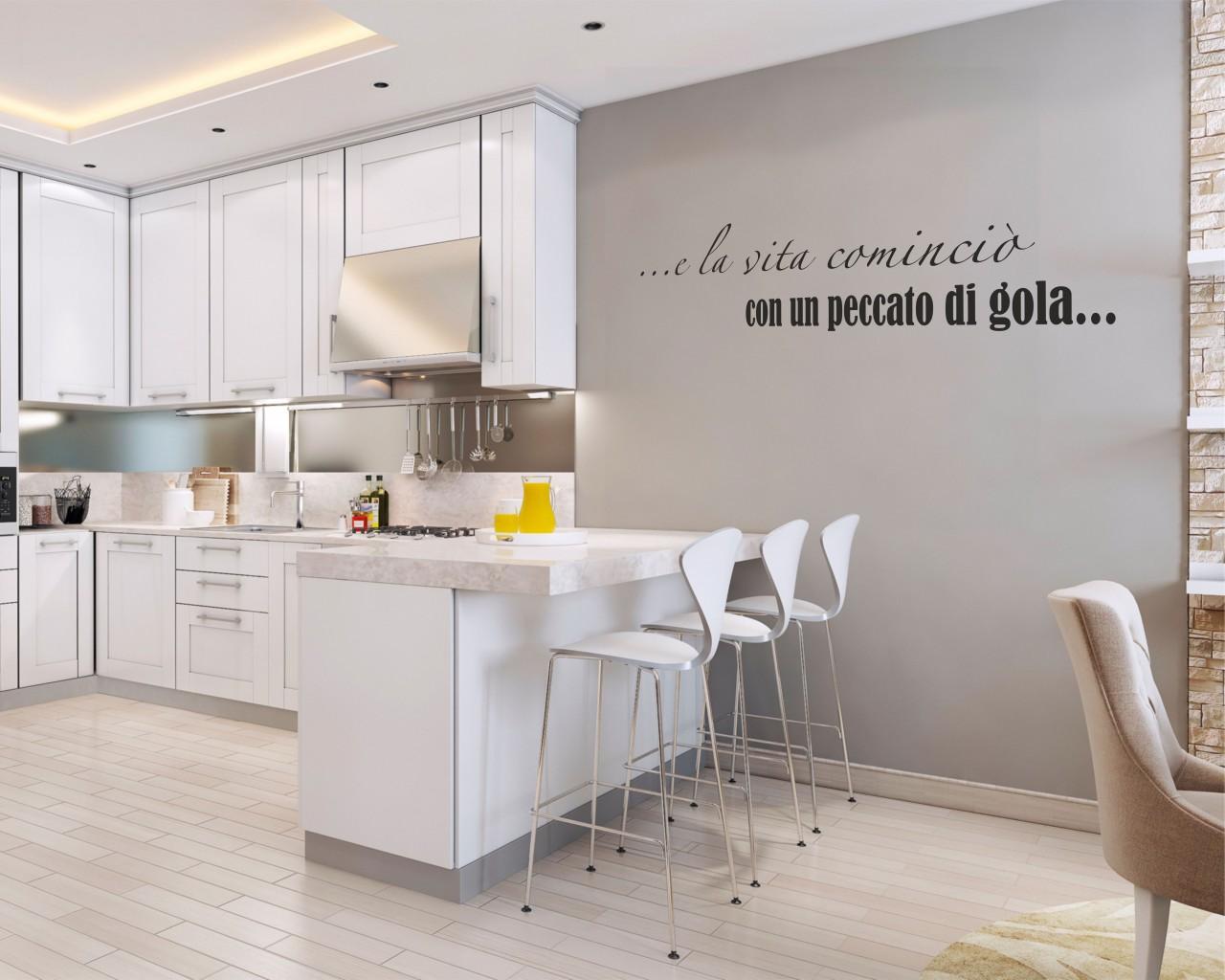 E la vita comincio frasi aforismi citazioni for Stickers murali cucina