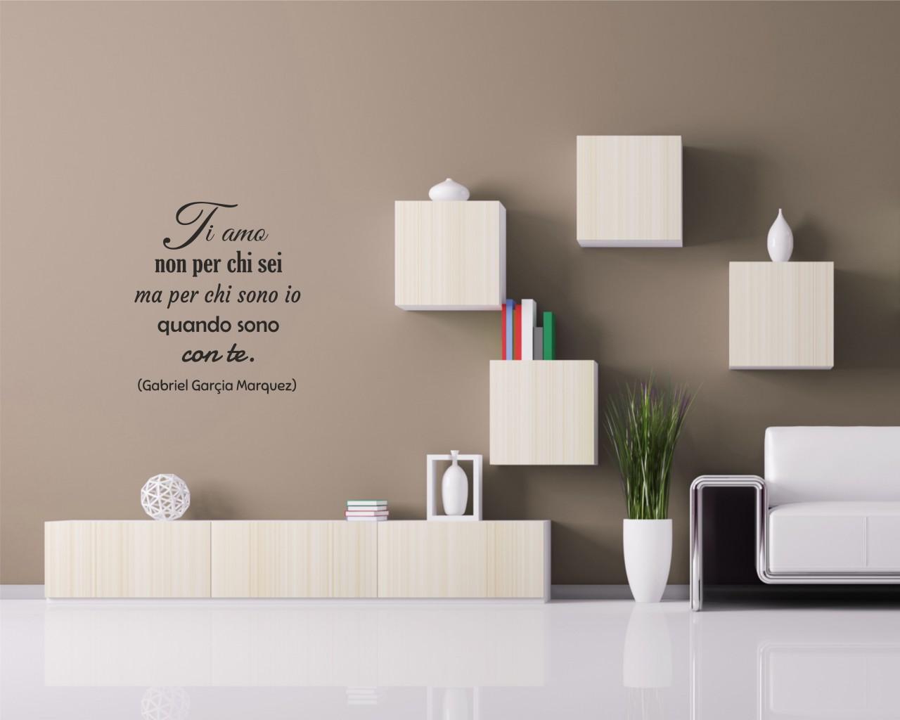 Ti amo non per chi sei frasi aforismi citazioni - Adesivi da parete camera da letto ...