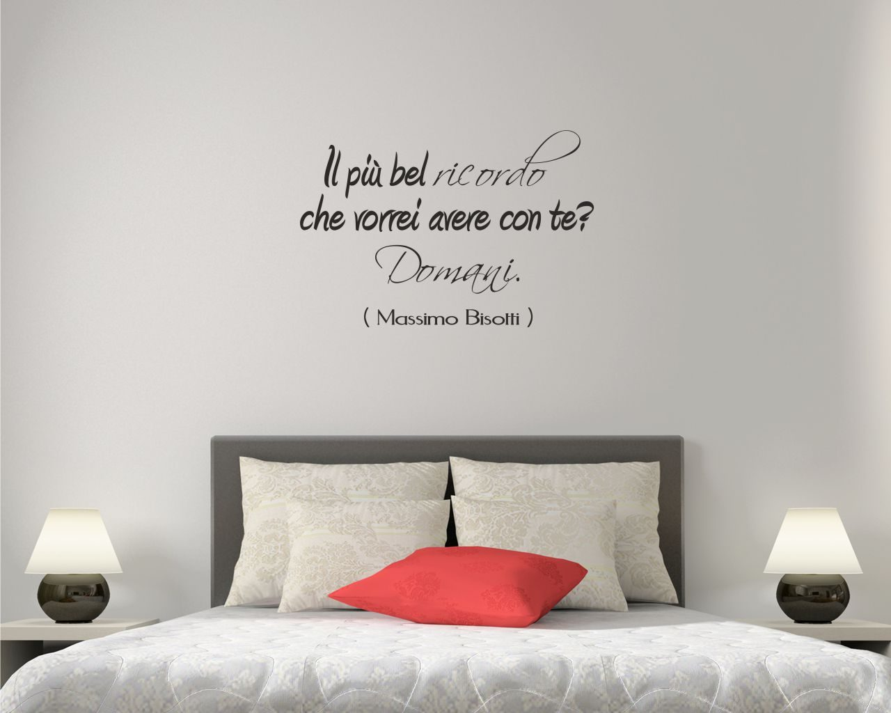 Il piu bel ricordo frasi aforismi citazioni adesivo murale - Adesivi murali per camera da letto ...