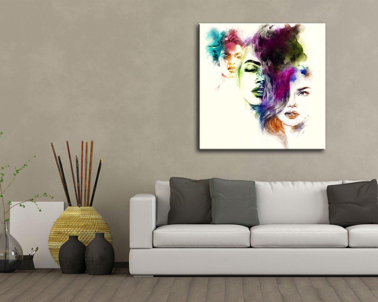 Ritratti di donne arte stampa su tela for Quadri d arredo moderni