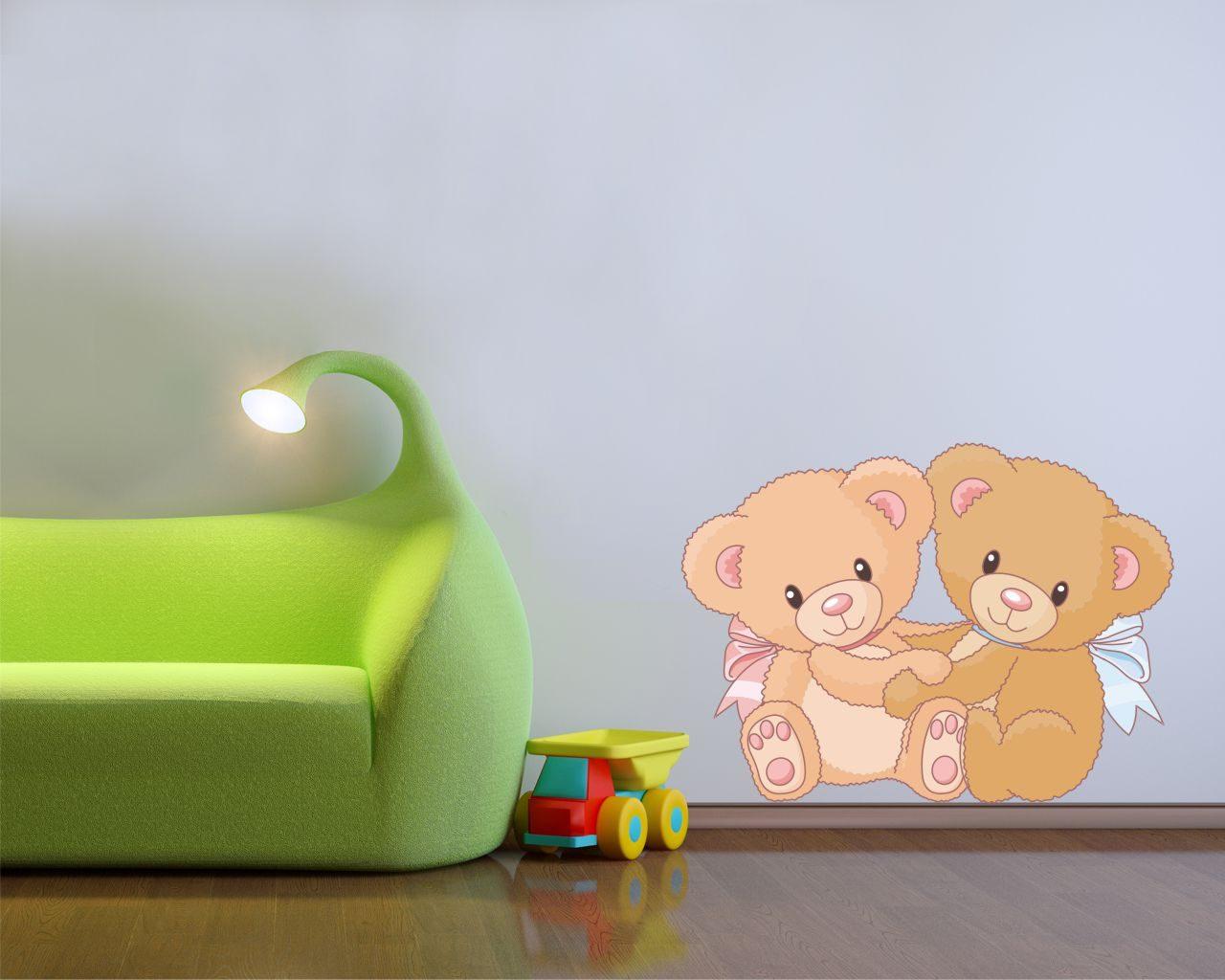 Dolcissimi orsetti infanzia adesivo murale - Adesivi camera bambini ...