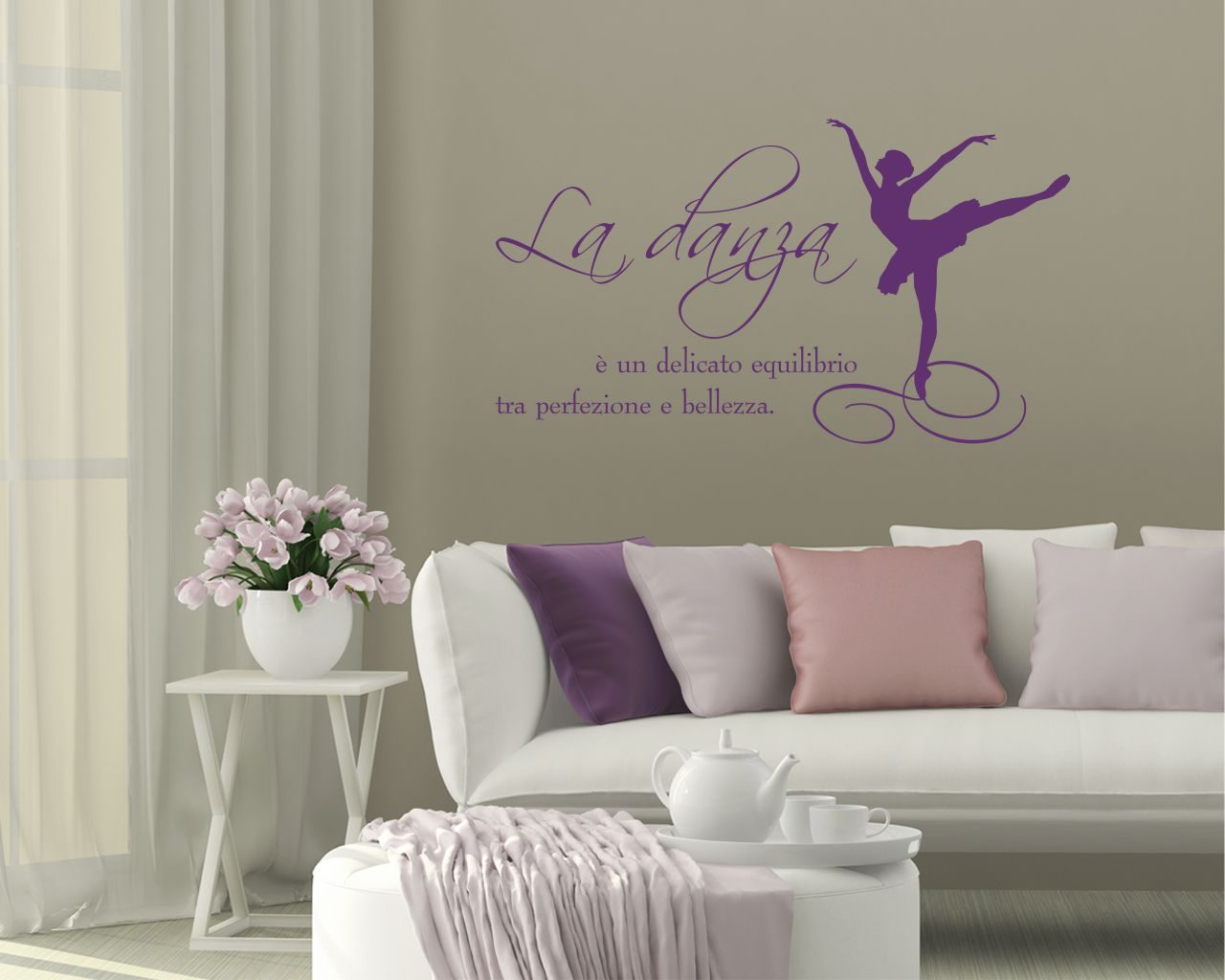 Un delicato equilibrio danza adesivo murale for Brico adesivi pareti