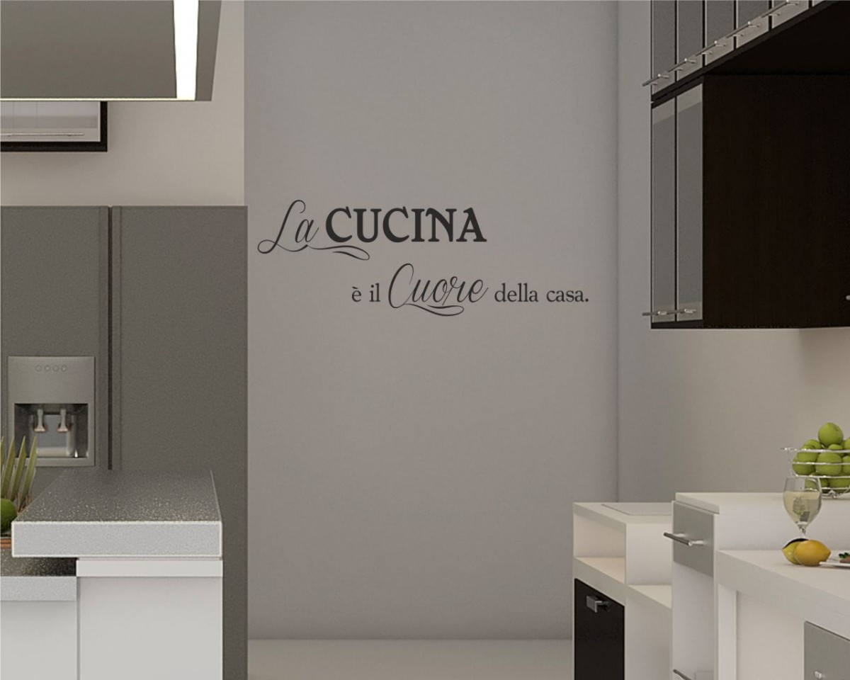 Interni decori adesivi murali wall stickers e quadri for Adesivi x cucina
