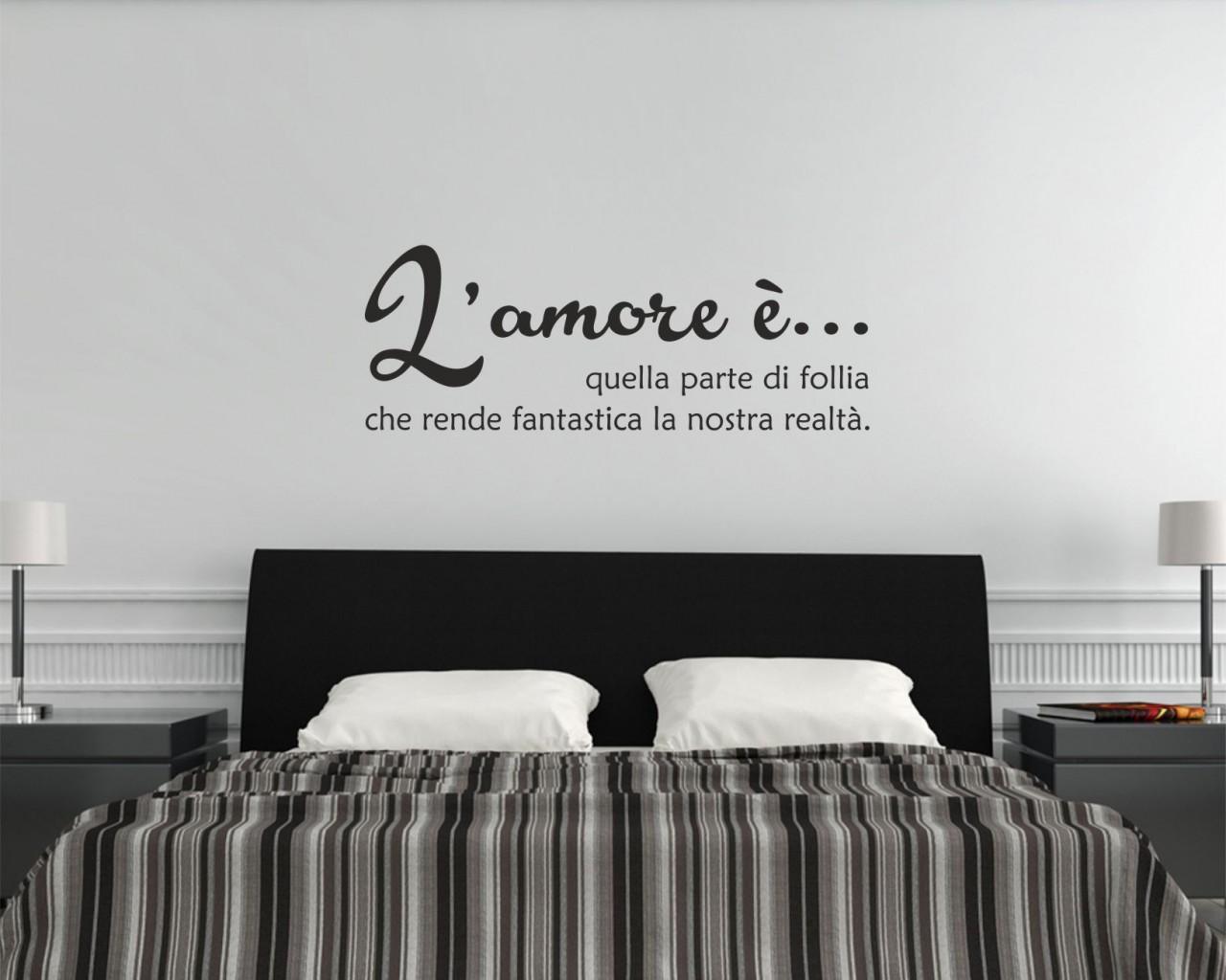 L amore e follia frasi aforismi citazioni adesivo murale - L amore a letto ...