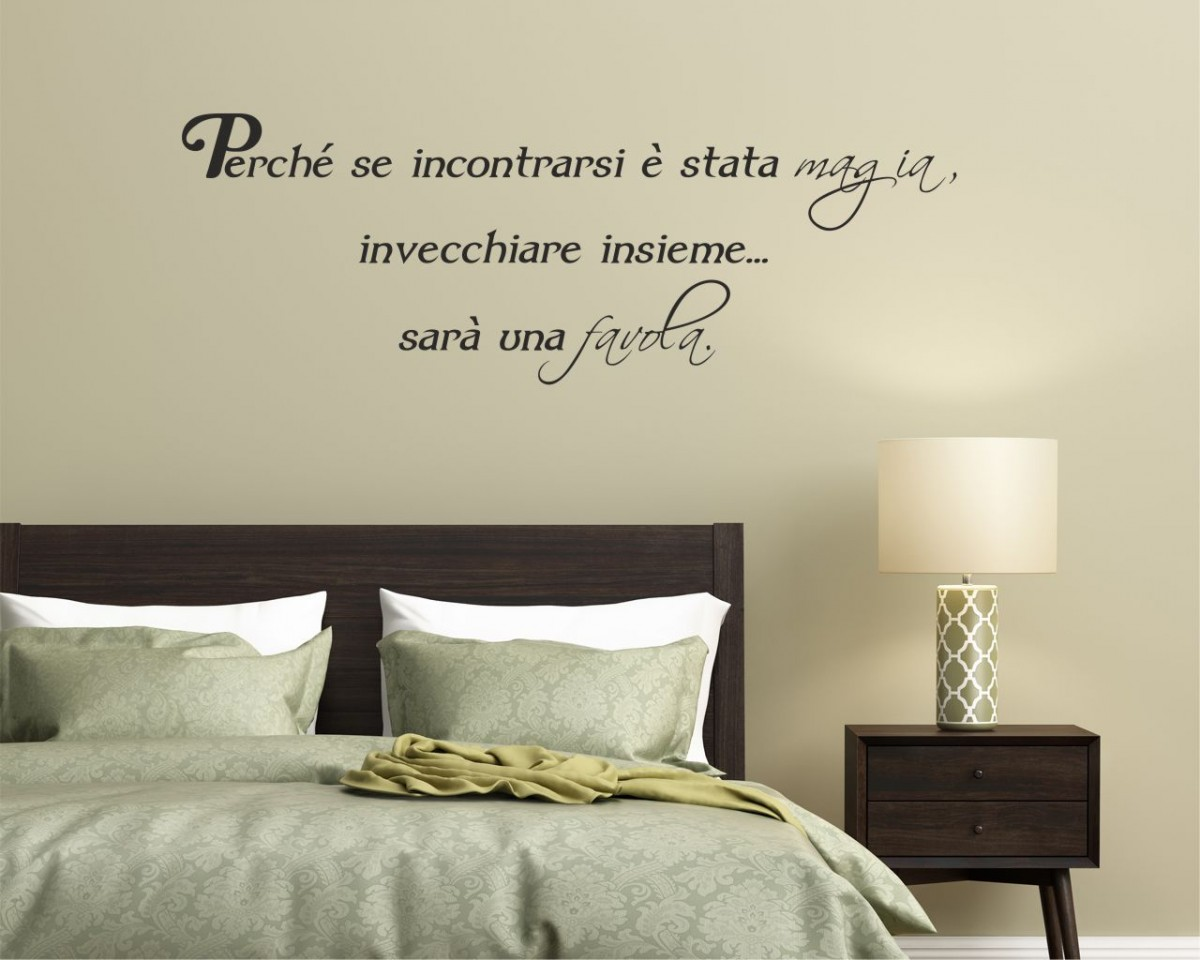 Interni decori adesivi murali wall stickers e quadri moderni stickers adesivi murali - Stencil muro camera da letto ...