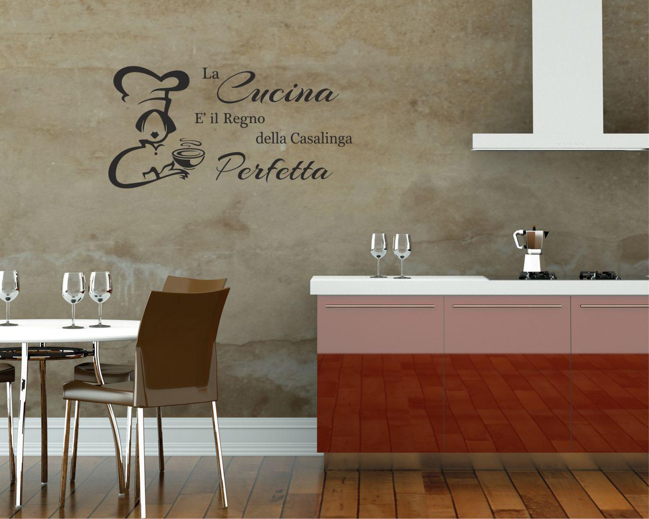 La cucina e il regno food adesivo murale interni for Scritte adesive cucina
