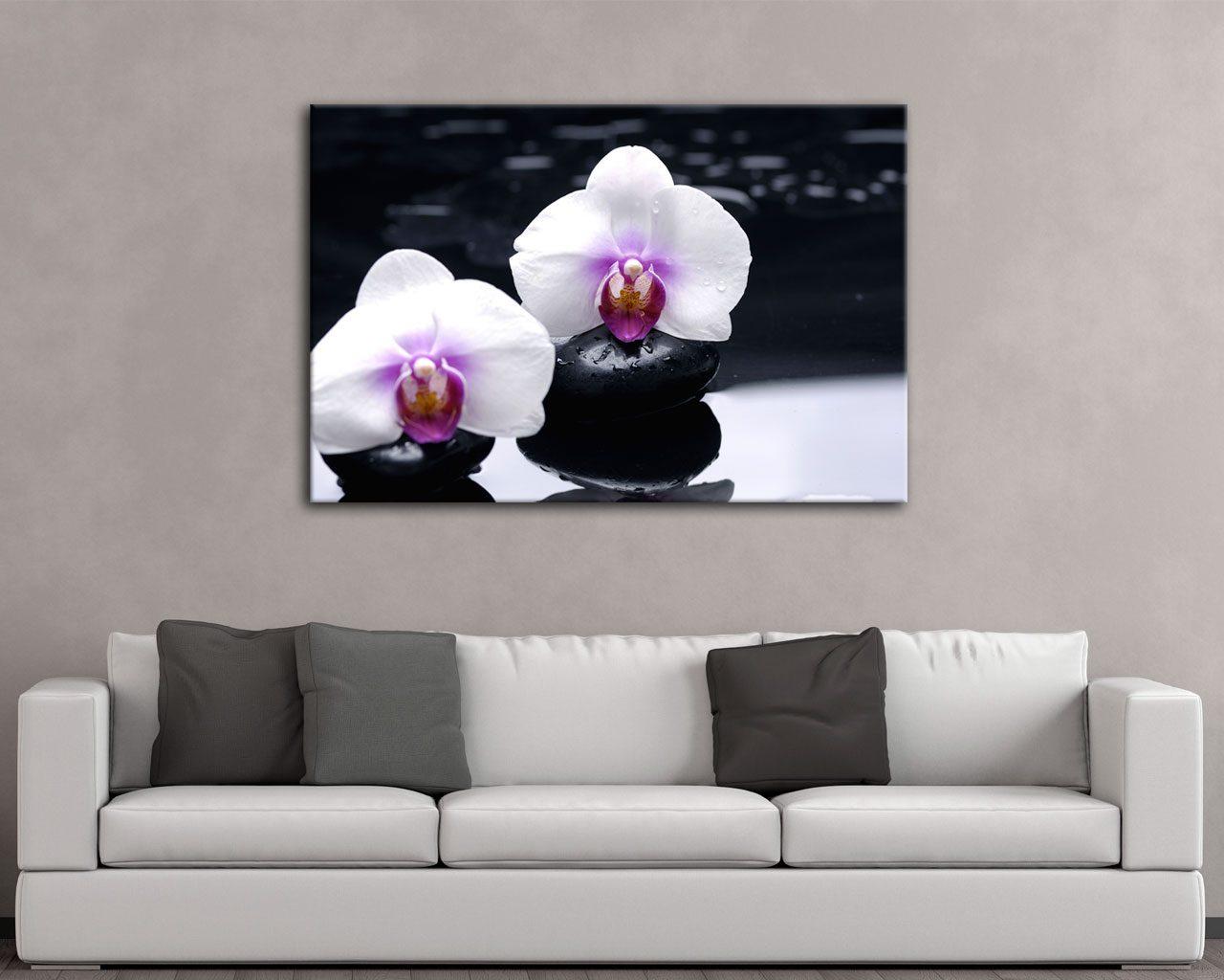 Candide orchidee bianche benessere stampa su tela for Quadri moderni orchidee