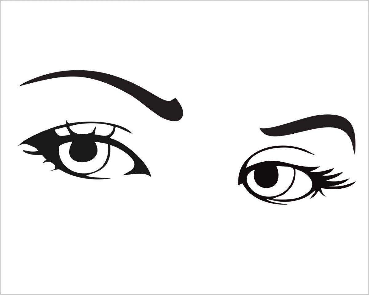 Occhi di ragazza-adesivo murale