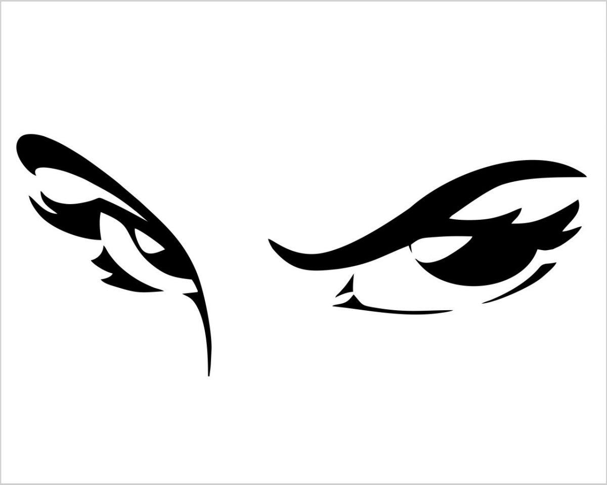 Occhi che stregano-adesivo murale