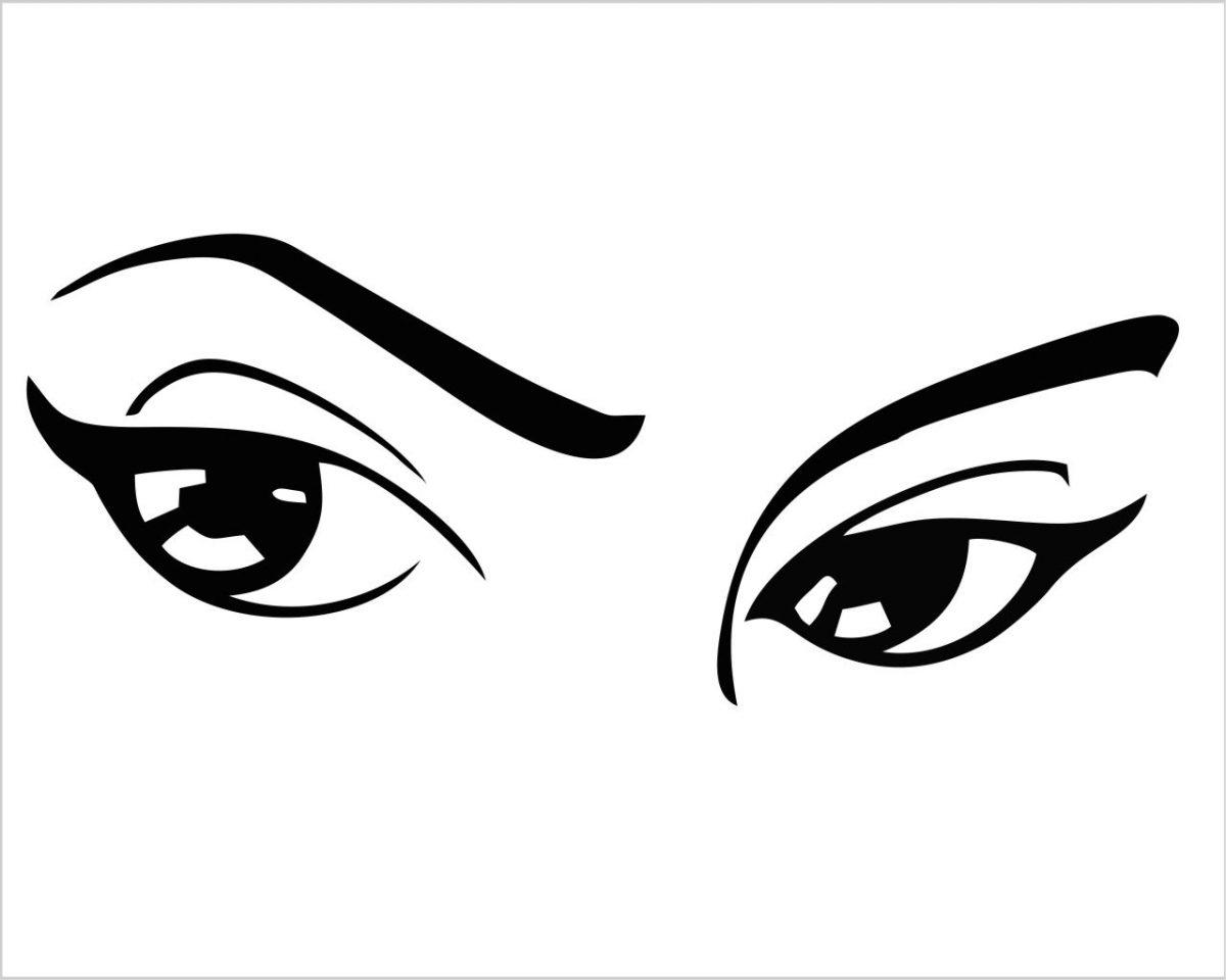 Dolci occhi di donna-adesivo murale