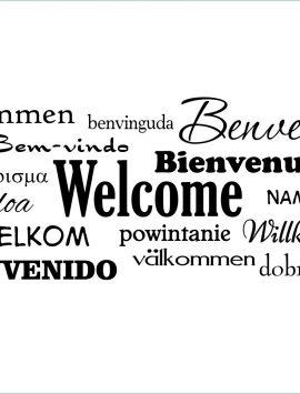 Benvenuto in varie lingue-adesivo murale
