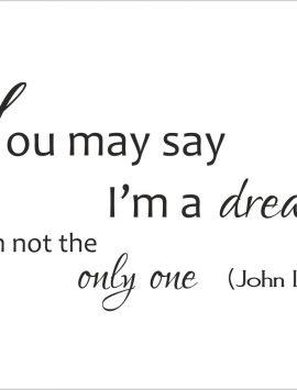 I'm a dreamer-adesivo murale