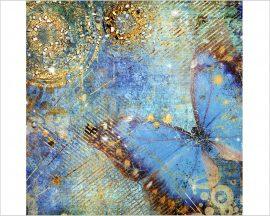Stampa su tela - farfalla celeste