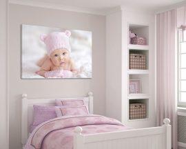 Stampa su tela-adorabile bimba in rosa
