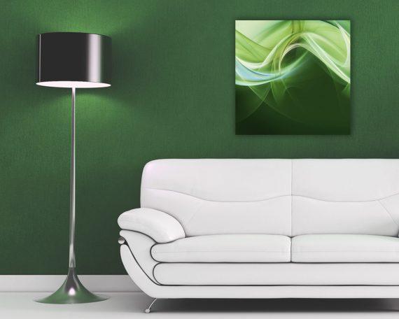 Stampa su tela- astratto verde