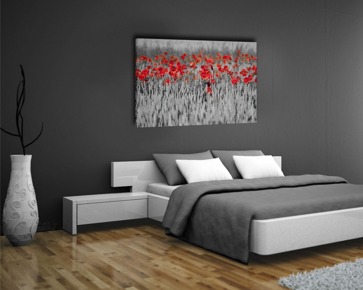 Fiori interni decori adesivi murali wall stickers - Quadri per camera da letto moderna ...