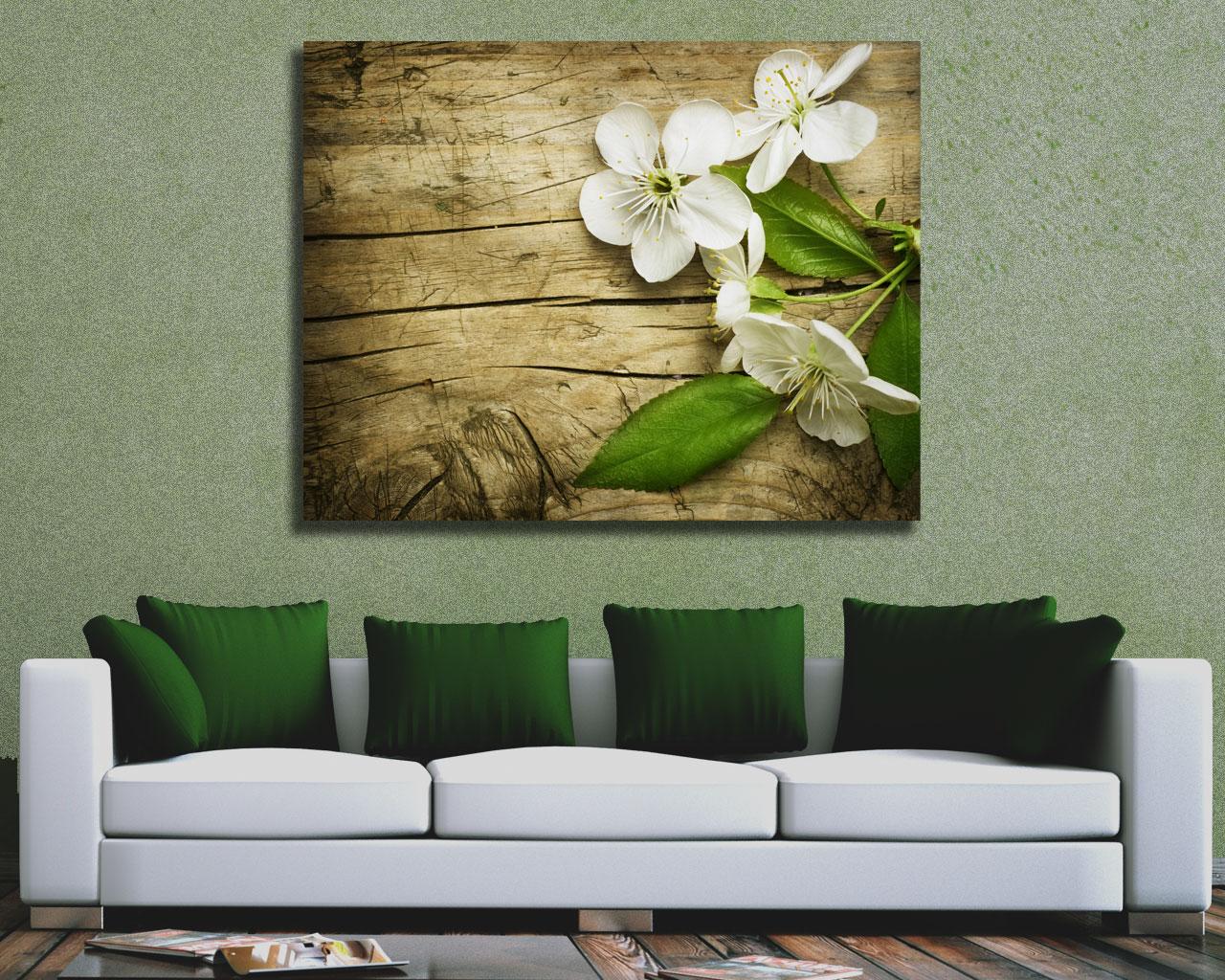 Profumati fiori di ciliegio fiori stampa su tela interni decori adesivi murali wall - Ikea quadri su tela ...
