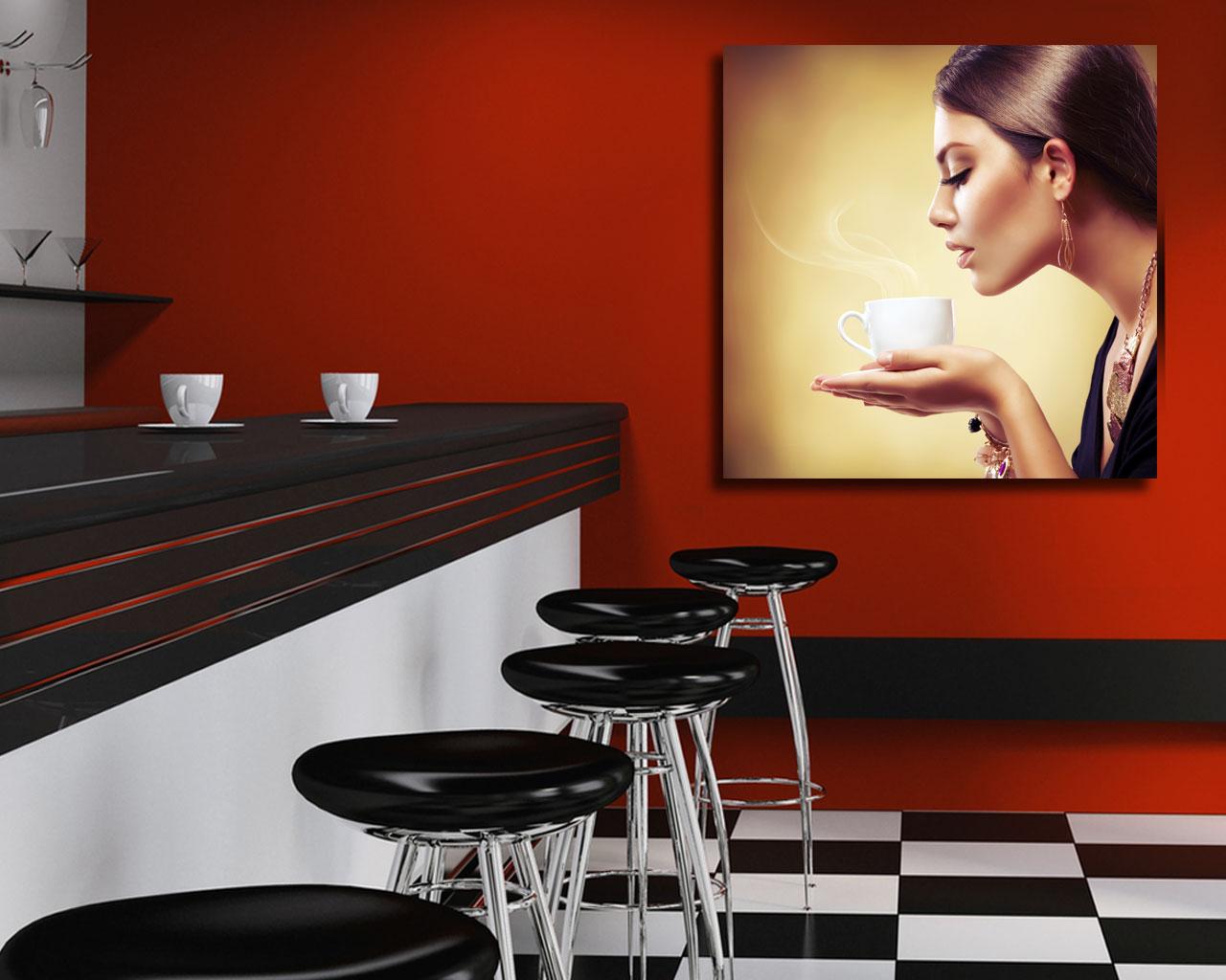 Stampa su tela - piacere di caffe