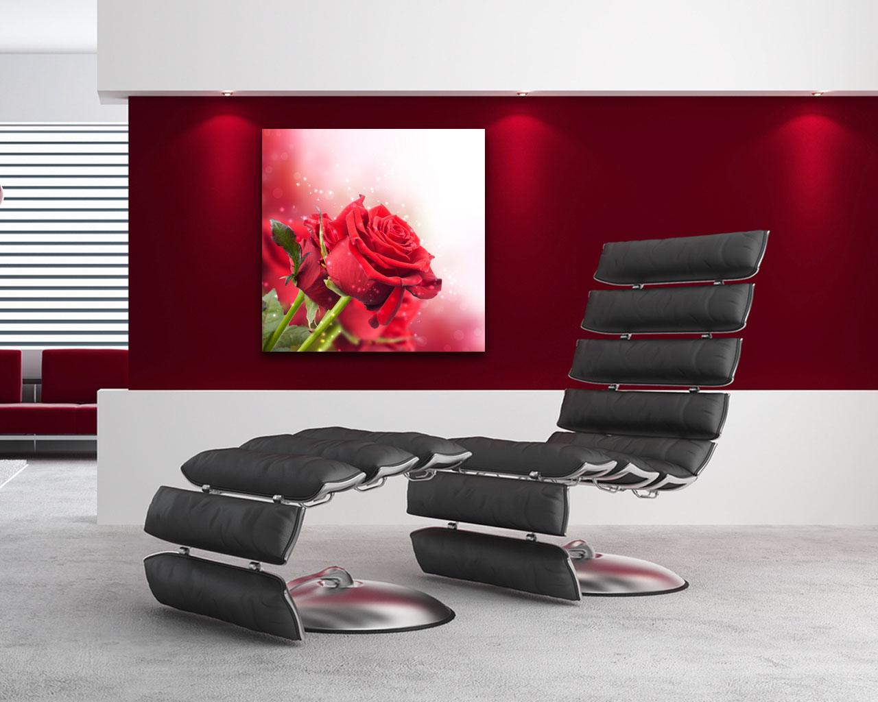Stampa su tela - profumate rose rosse