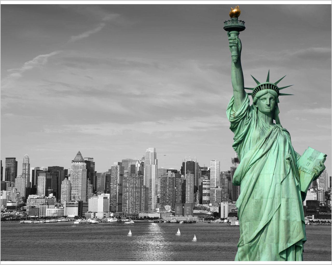 Vista sulla baia di new york citt stampa su tela for Soggiorno new york