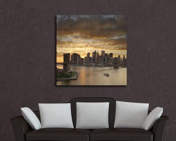 Stampa su tela - tramonto a new york