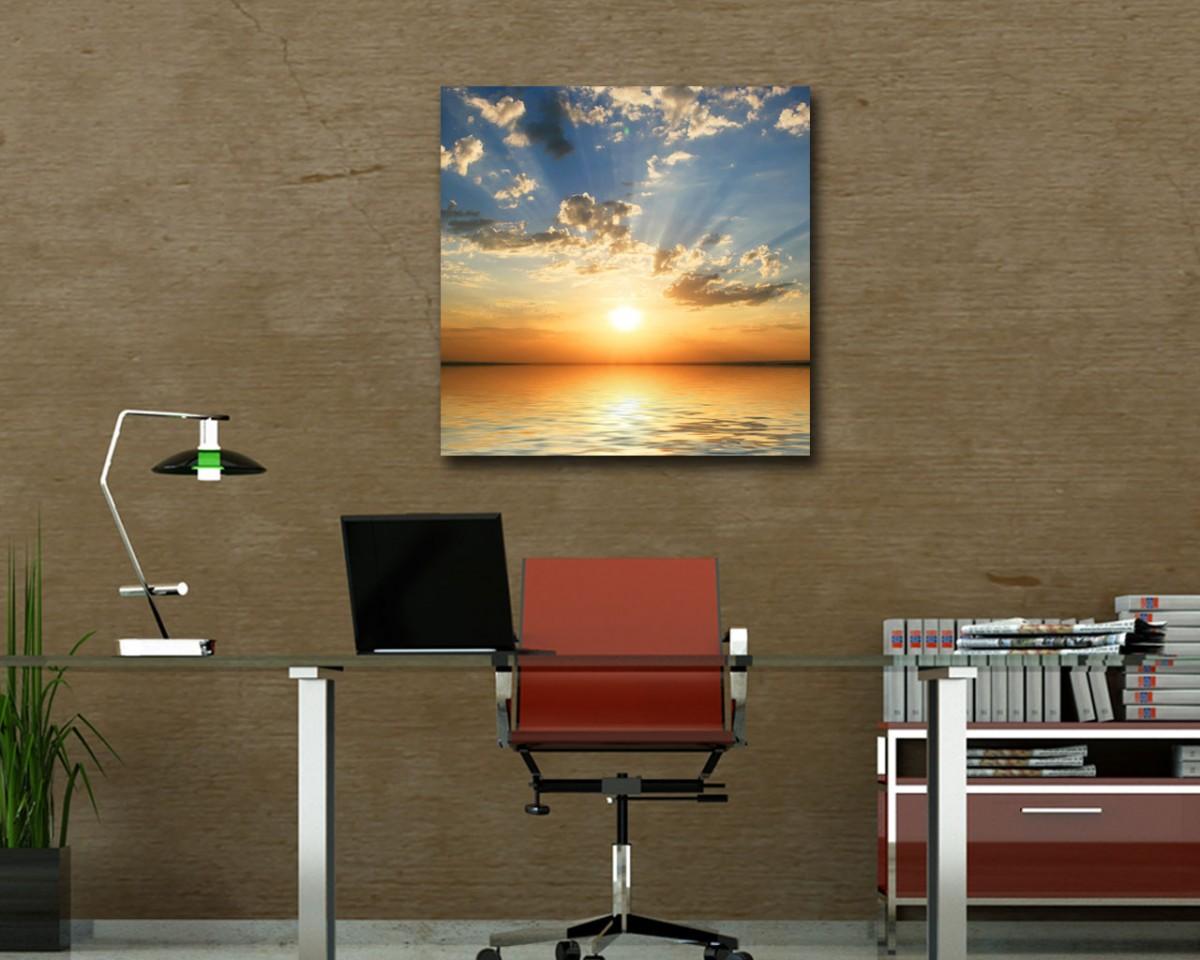 stampa su tela-mare al tramonto