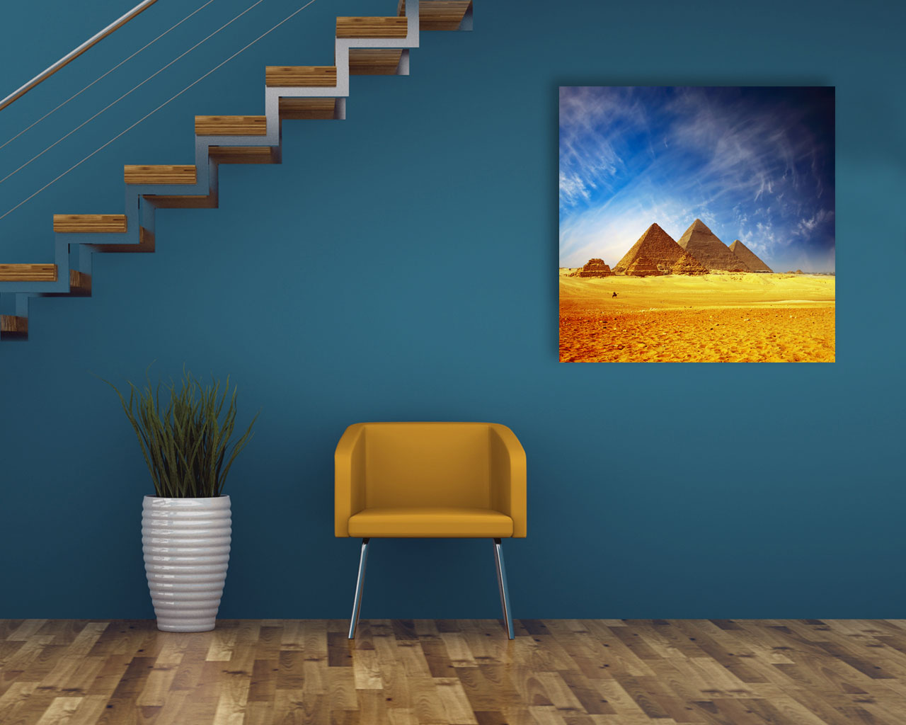 stampa su tela-piramidi nel deserto