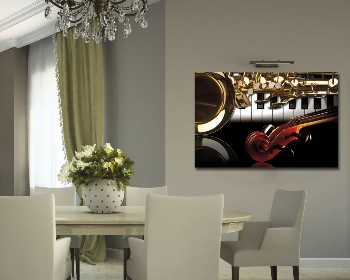STRUMENTI MUSICALI – Vintage & Retrò – Stampa Su Tela #AE241D 1200 960 Quadri Sala Da Pranzo