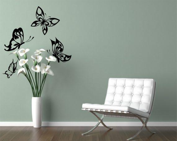 adesivo murale-splendide farfalle