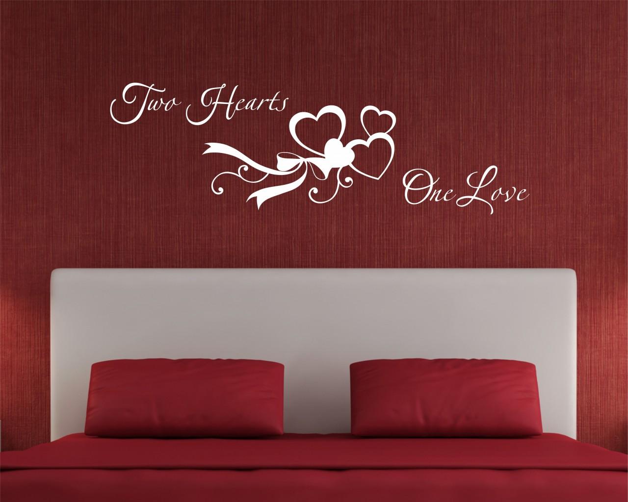 adesivo murale-two hearts one love