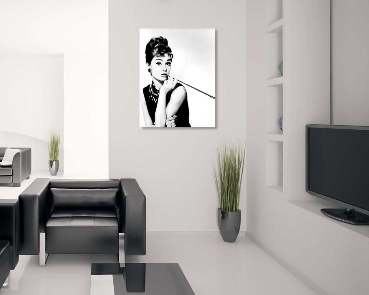 Stampa su tela - Audrey Hepburn