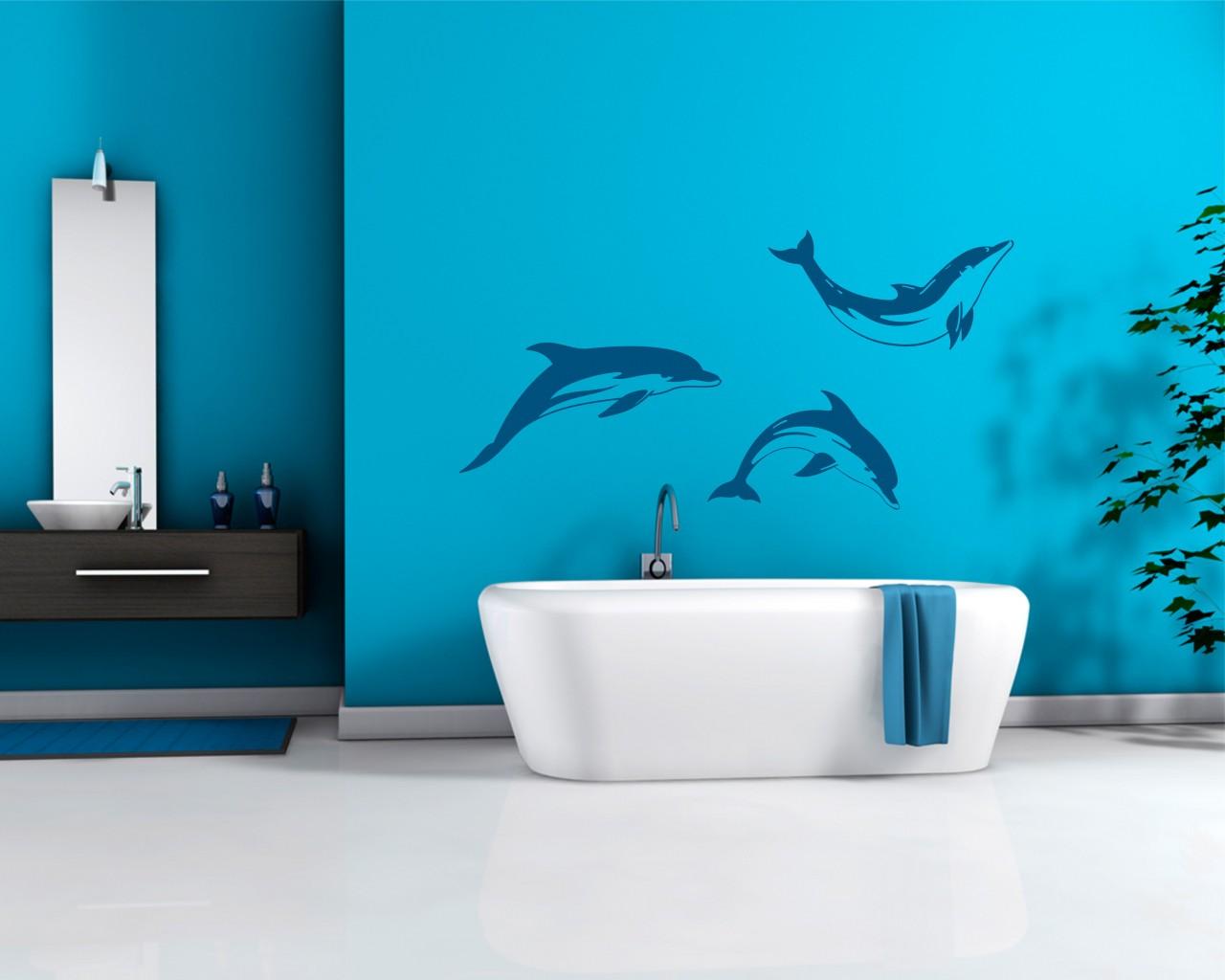 adesivo murale-salto di delfini