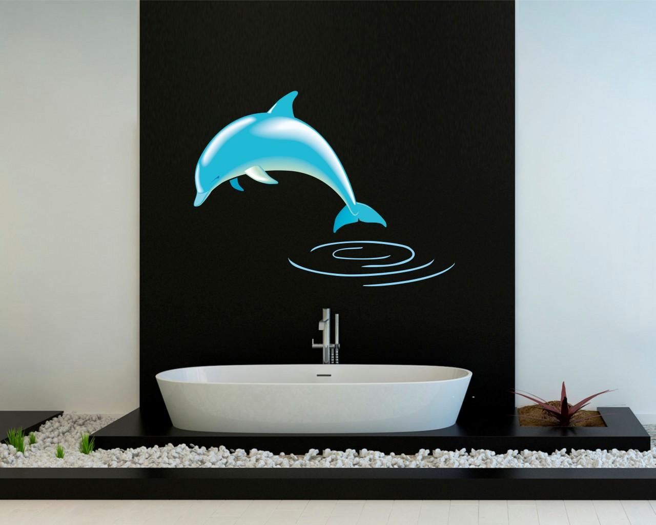 adesivo murale-tuffo di un delfino