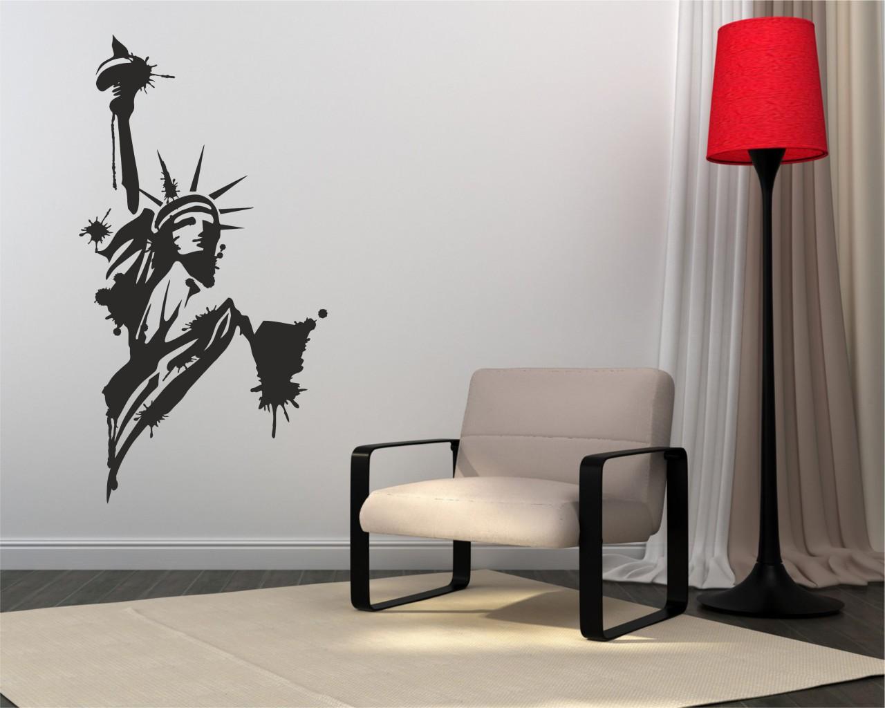 adesivo murale-statua della libertà