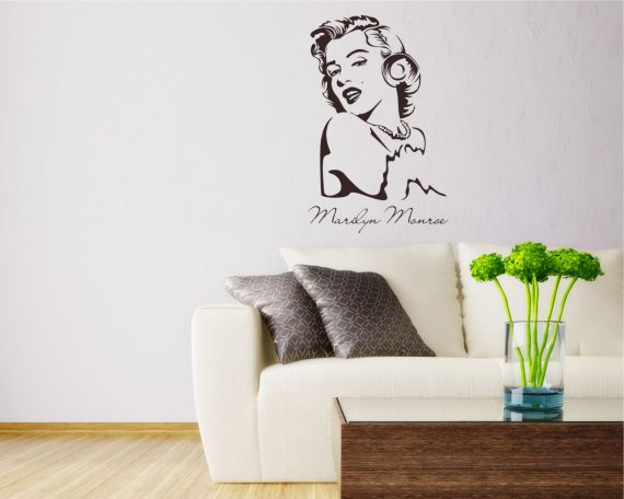 Adesivo murale-bellissima Marilyn