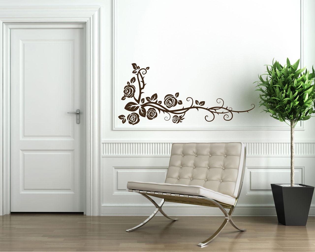 adesivo murale-ramo di rose selvatiche