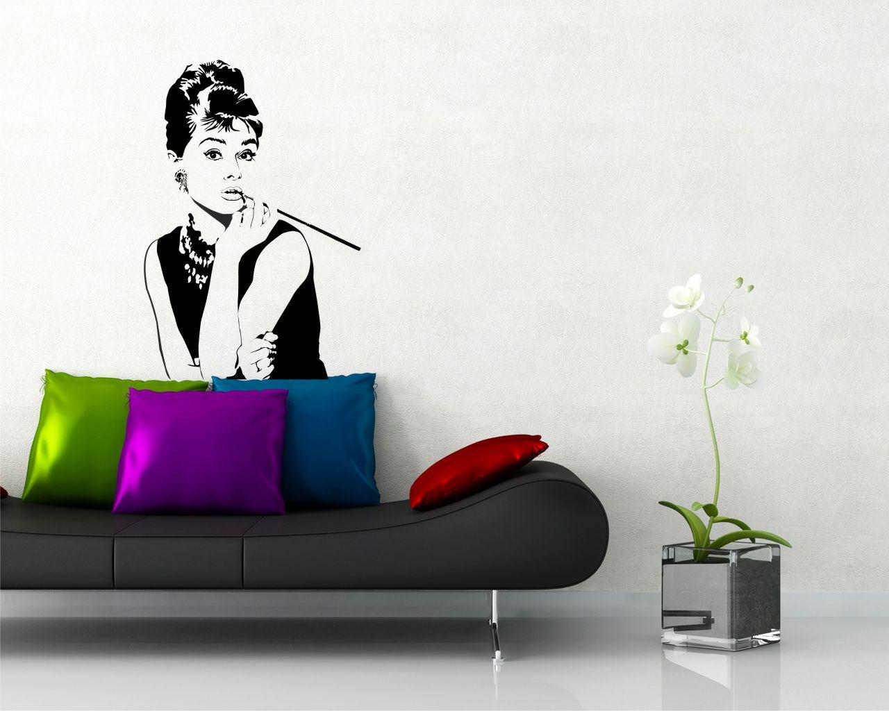 Adesivo murale-Audrey Hepburn