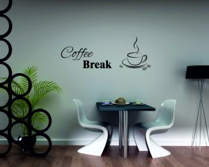adesivo murale-piacevole pausa caffè