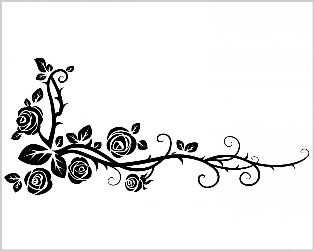 Ramo di rose selvatiche decori adesivo murale for Decorazioni da scrivania