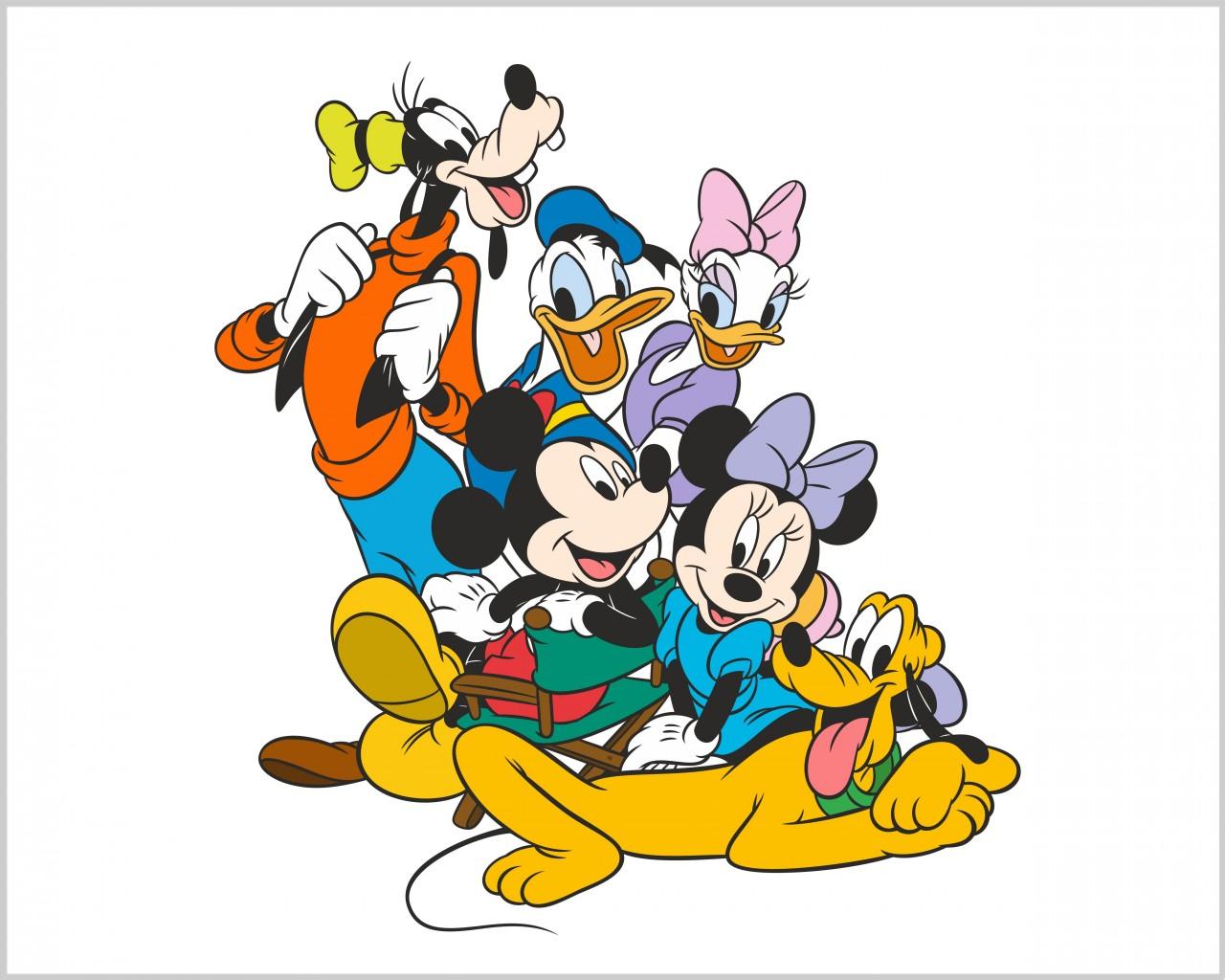 Adesivo Murale Disney Topolino E Minnie Infanzia Mini Sticker