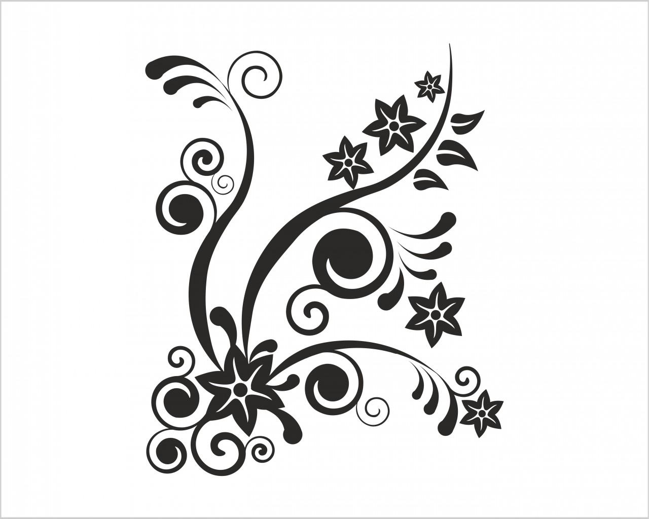 Delicate onde floreali decori adesivo murale interni decori adesivi murali wall - Decori adesivi per pareti ...