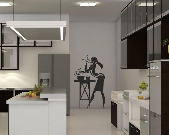 adesivo murale-una cuoca perfetta