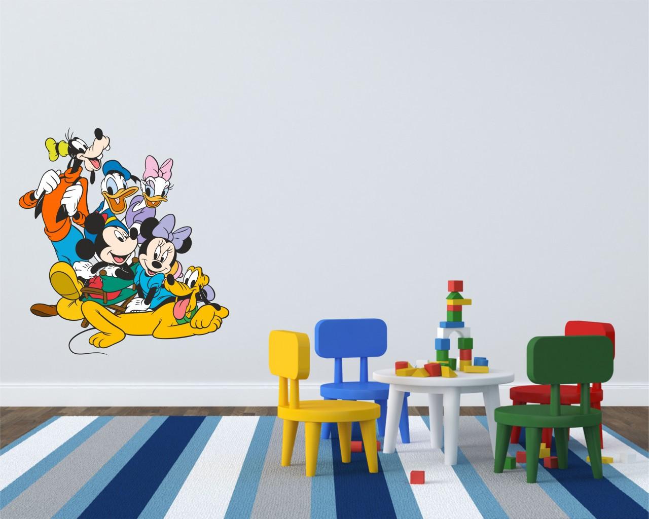 adesivo murale-topolino e i suoi amici