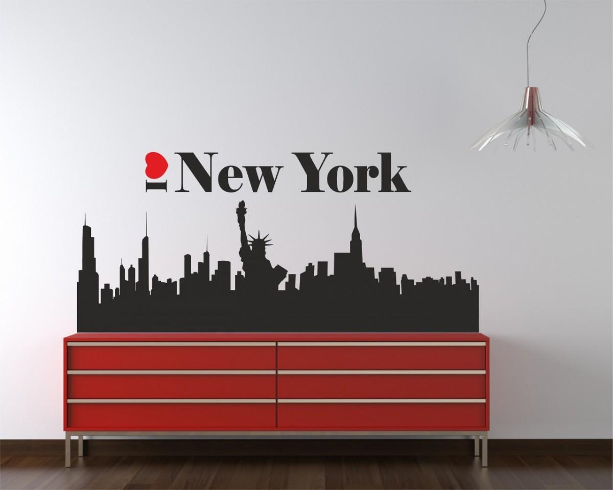 adesivo murale-I love new york