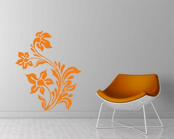adesivo murale-elegante motivo floreale