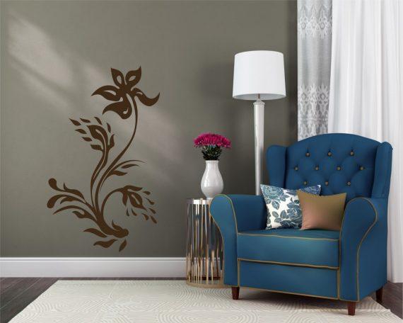 adesivo murale-armonioso motivo floreale-