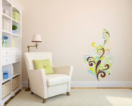 adesivo murale-floreali sfumature