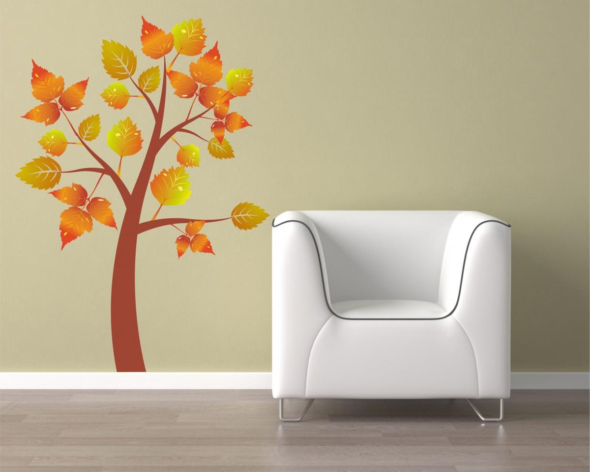 adesivo murale-albero d'autunno